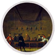 Paris: Billiards, 1725 Round Beach Towel