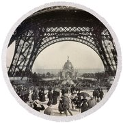 Paris Exposition, 1889 Round Beach Towel