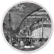 Paris: Exposition Of 1867 Round Beach Towel