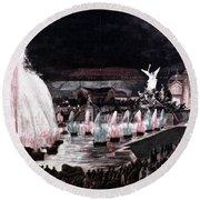 Paris: Fountains, 1889 Round Beach Towel