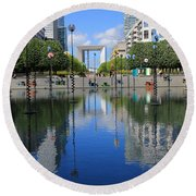 Paris La Defense 3 Round Beach Towel