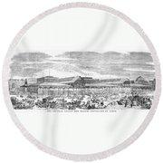 Paris: Les Halles, 1858 Round Beach Towel