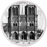 Paris: Notre Dame, 1600s Round Beach Towel