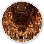 Paris Opera House Vi Round Beach Towel
