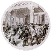 Paris: Pawnbroker, 1868 Round Beach Towel