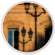 Paris Shadows Round Beach Towel