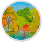 Park Impression Round Beach Towel