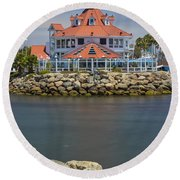 Parker's Lighthouse Round Beach Towel