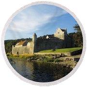 Parkes Castle, Co Leitrim, Ireland Round Beach Towel