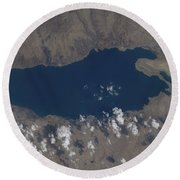 Part Of The Dead Sea And Parts Round Beach Towel by Stocktrek Images