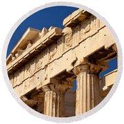 Parthenon Round Beach Towel by Brian Jannsen