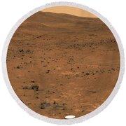 Partial Seminole Panorama Of Mars Round Beach Towel