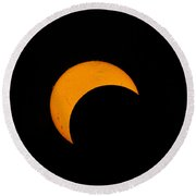 Partial Solar Eclipse Of 2012 Round Beach Towel