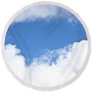 Partly Blue Round Beach Towel