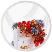 Party Decorations In A Bag Round Beach Towel