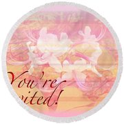 Party Invitation - General - Wild Azalea Blossoms Round Beach Towel