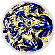 Party Time Abstract Round Beach Towel