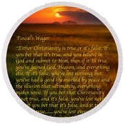 Pascal's Wager Round Beach Towel