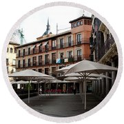 Passing By Zocodover Square Round Beach Towel