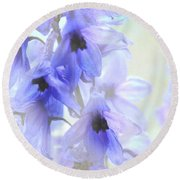 Passion For Flowers. Blue Dreams Round Beach Towel