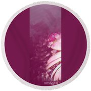 Passion Triptych 1 Round Beach Towel