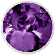 Passionate Purple Overload Round Beach Towel