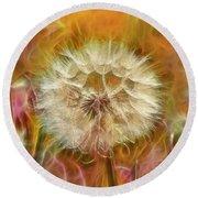 Pastel Dandelion Flare Round Beach Towel