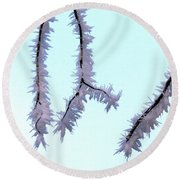 Pastel Glow On The Frost Round Beach Towel