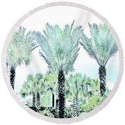 Pastel Palms Round Beach Towel
