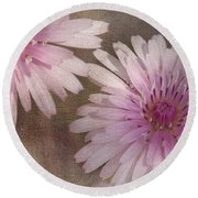 Pastel Pink Passion Round Beach Towel