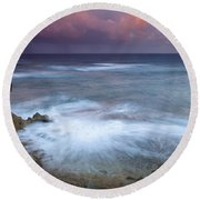 Pastel Storm Round Beach Towel by Mike  Dawson