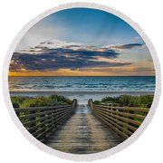 Path Of Peace Round Beach Towel