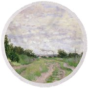 Path Through The Vines At Argenteuil Round Beach Towel