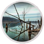 Path To Enlightment Round Beach Towel by Paul Ward