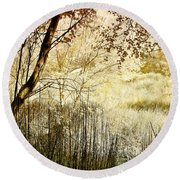 Path To The Meadow Round Beach Towel