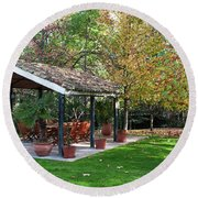 Patio Dining Madrid Round Beach Towel