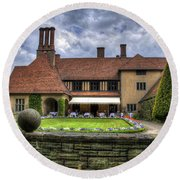 Patio Restaurant At Cecilienhof Palace Round Beach Towel