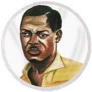 Patrice Lumumba Round Beach Towel