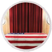 Patriotism Round Beach Towel