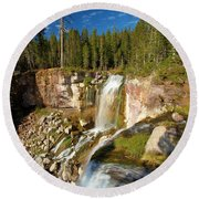 Pauina Falls Overlook Round Beach Towel