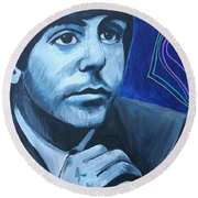 Paul Mccartney Round Beach Towel