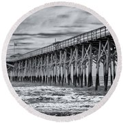Pawleys Island Pier Round Beach Towel