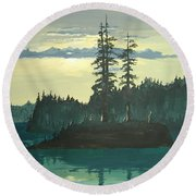 Peace And Quiet Round Beach Towel
