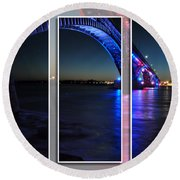 Peace Bridge 01 Triptych Series Round Beach Towel