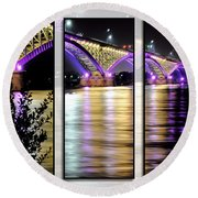 Peace Bridge 02 Triptych Series Round Beach Towel