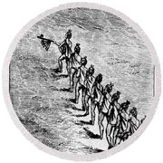 Peace Pipe Ceremony, 1718 Round Beach Towel