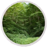 Peaceful Forest Round Beach Towel