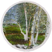 Peaceful Meadow Round Beach Towel
