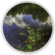 Peaceful Pond Round Beach Towel