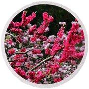 Peach Blossom Round Beach Towel